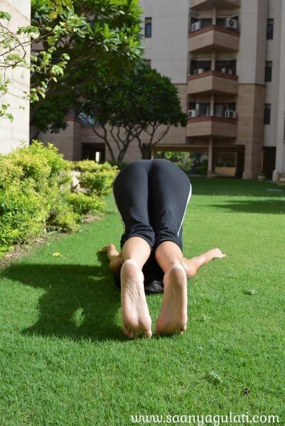 Saanya Gulati's Blog -halasana front view