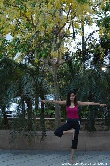 Saanya Gulati's Blog -vrikasana