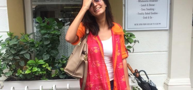 Saanya Gulati, Handloom Day - Ikat Kurta copy