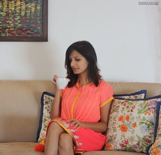 Saanya Gulati, Indian Hanger - Pink Kurta Dress - Dress