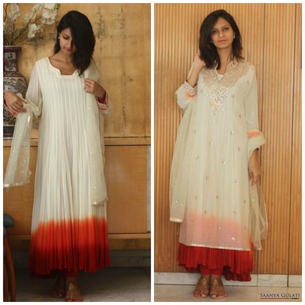 Saanya Gulati Indian Hanger - Red and White Kurta Collage -Final