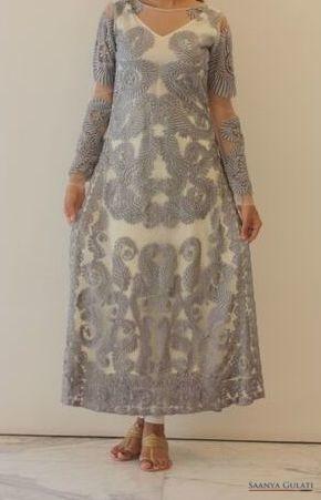 Saanya Gulati, Indian Hanger - White & Grey Kurta, Detail
