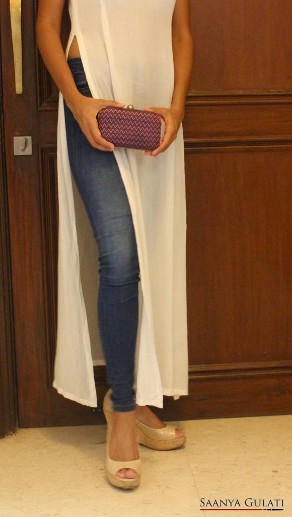 Saanya Gulati, Vesa Maxi Top, Evening Look, Detail