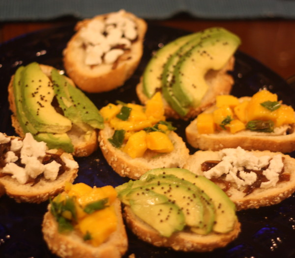 Saanya Gulati's Blog, Tricoloured Crostini
